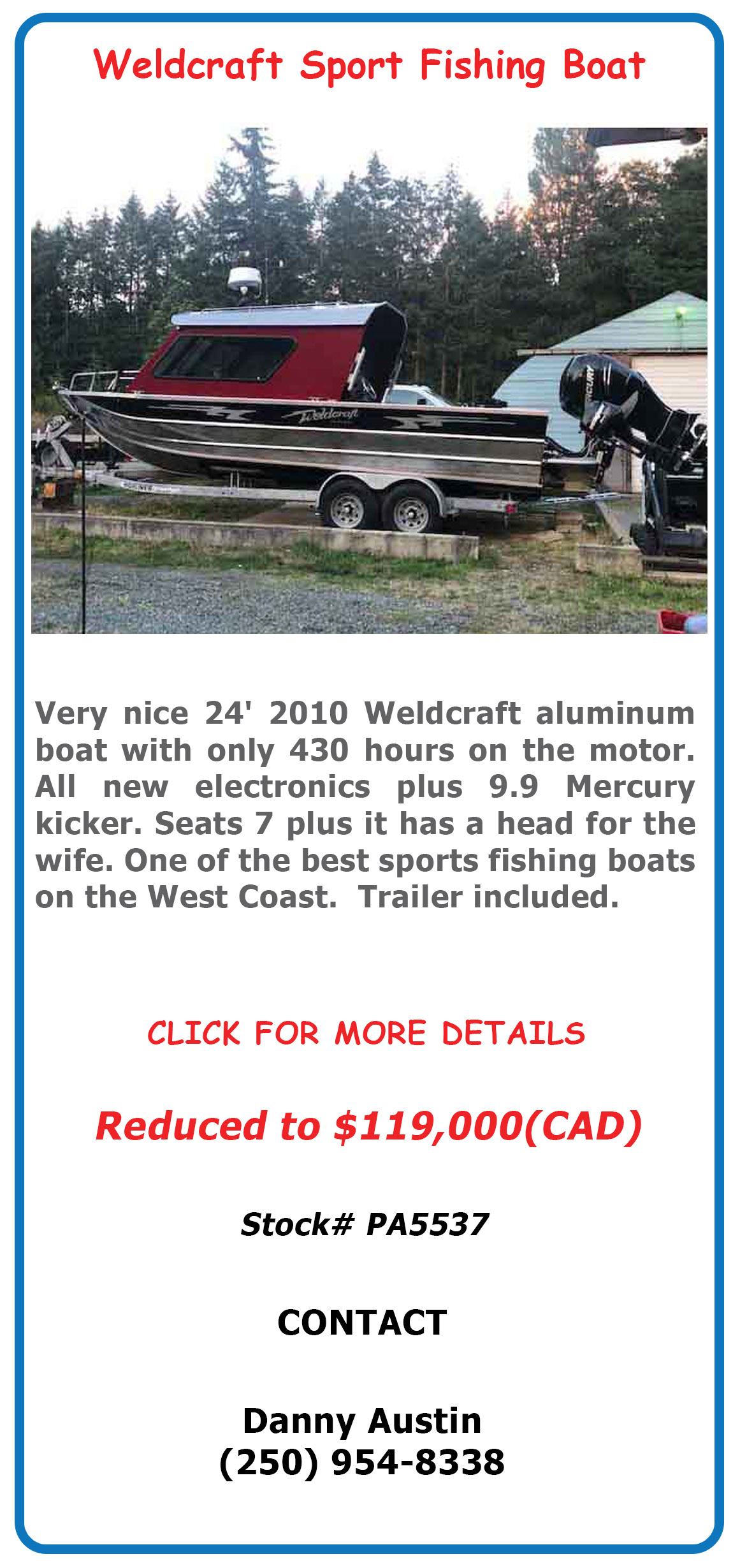 Aluminum Weldcraft Sport Fisher